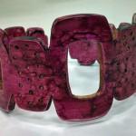 Pink Faux Bone Bracelet by Libby Mills
