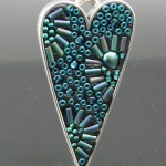 Seed Bead Mosaic Heart by Libby Mills